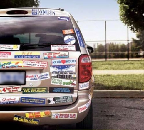 way too many bumper stickers