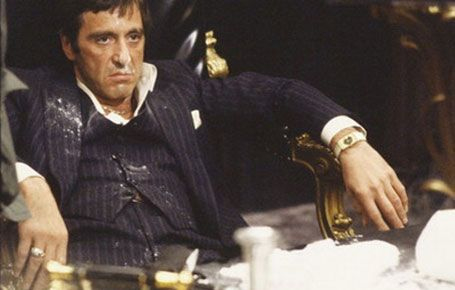 Scarface with cocaine